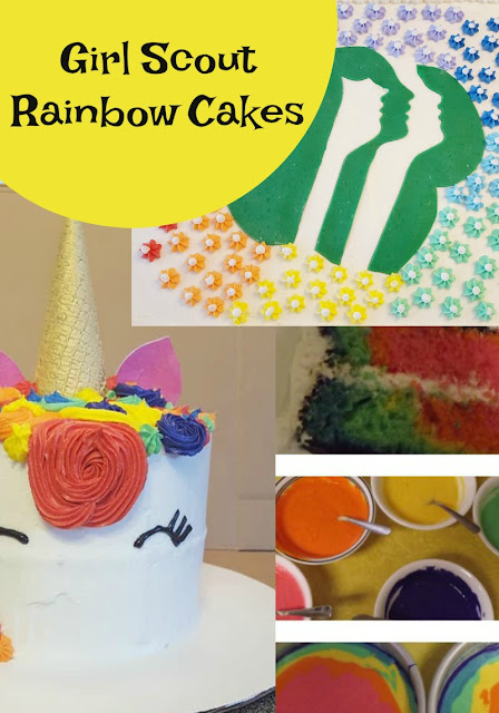 How to make a Unicorn Rainbow Cake Batter for Girl Scouts