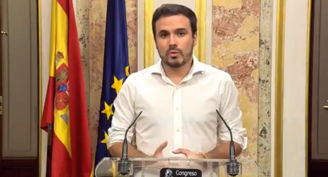 """Alberto Garzón: """"Es una buena noticia que no se haya declarado la independencia en Cataluña"""""""