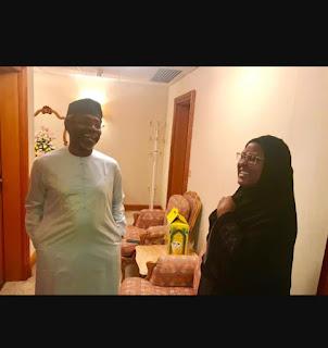 20190809 151522 - Picture of Gbajabiamila and Aisha Buhari in Mecca -@9jasuperstar