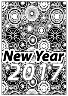 new year 2017 coloring pages print