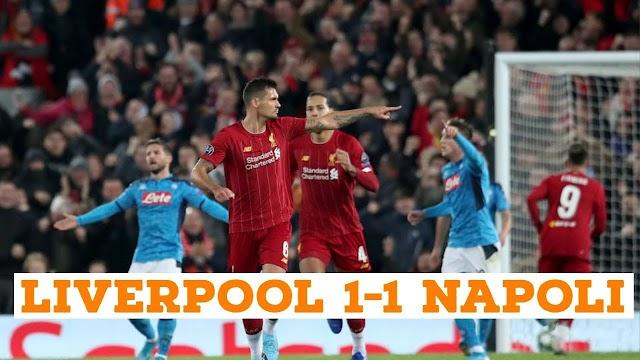 Liverpool 1 - 1 Napoli champions league highlight
