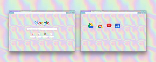 Holographic Google Theme  | Chrome Web Store