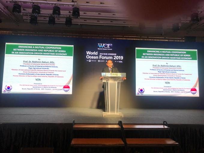 Hadiri World Ocean Forum 2019, Prof Rokhmin Dahuri Paparkan Pentingnya Kerjasama Negara di Bidang Maritim.