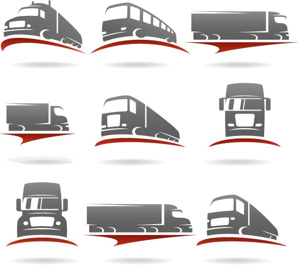 Logos de transporte camiones - Vector