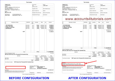 tally invoice format, how to add narration in tally invoice