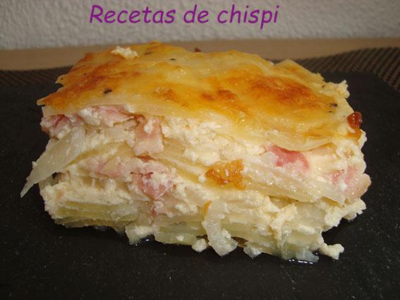 Patatas Al Graten( Pastel De Patatas )