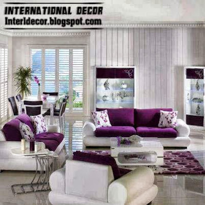 Luxury Purple Furniture Sets Sofas Chairs For Living Room