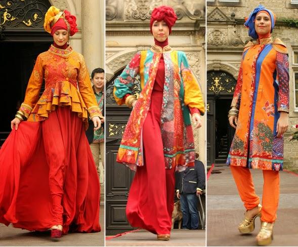 Kombinasi Warna Desain Baju Muslim Dian Pelangi