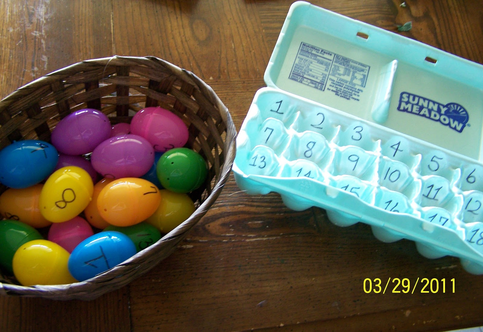Rattles And Redheads Easter Egg Counting Game