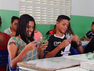 Em Picuí, projeto de reciclagem de garrafas pets é realizado em escola municipal