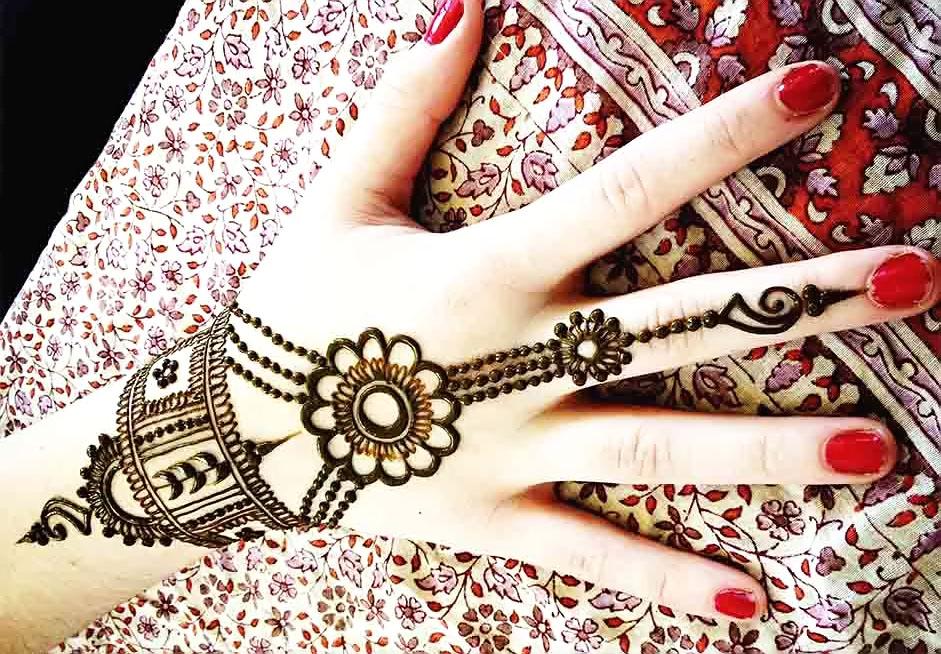 new jewellery mehndi design image
