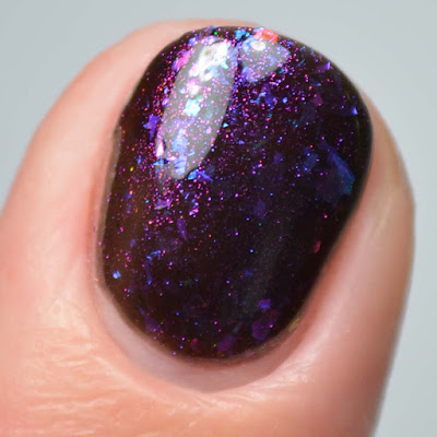 black jelly nail polish close up