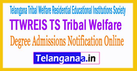 TTWREIS TS Tribal Welfare Degree Admissions Notification 2017 Online Application