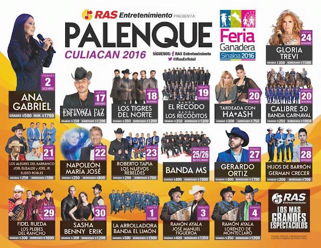 palenque culiacan sinaloa 2016