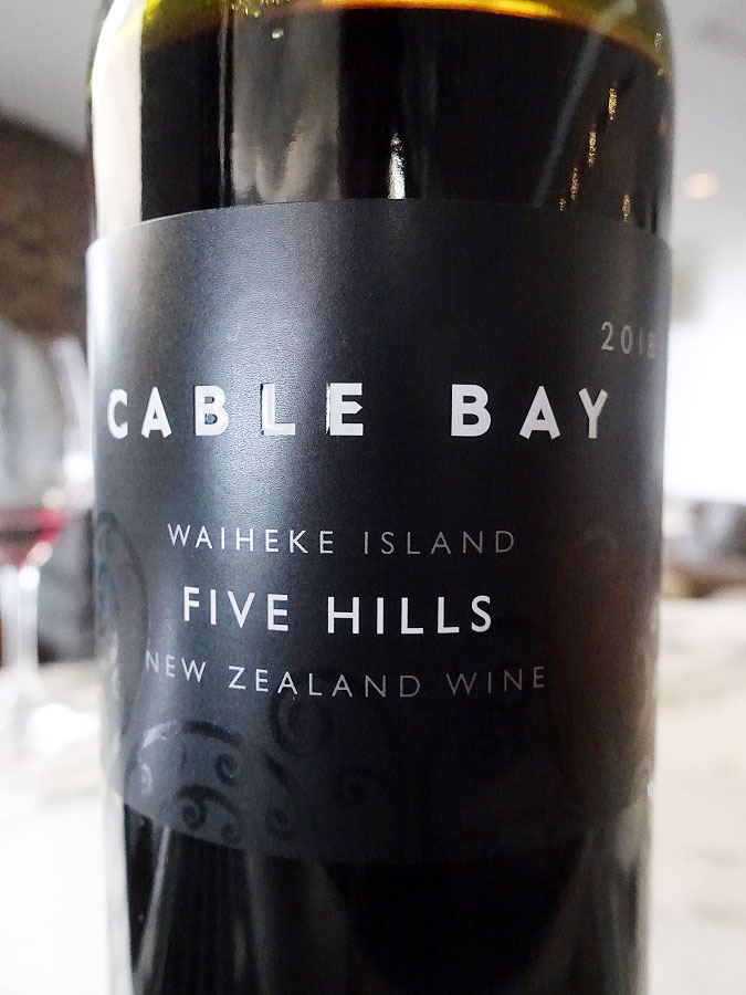 Cable Bay Five Hills 2018 (91 pts)