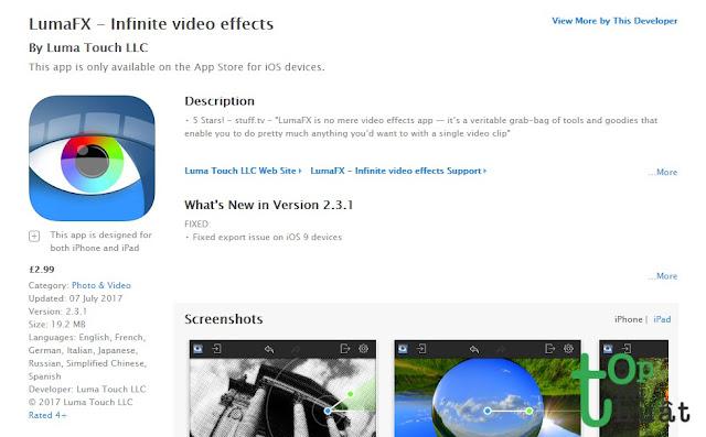 Ứng dụng chỉnh sửa Video - LumaFX
