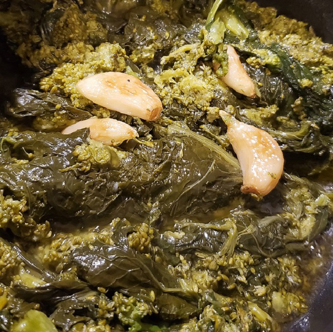 this is sauteed broccoli rabe