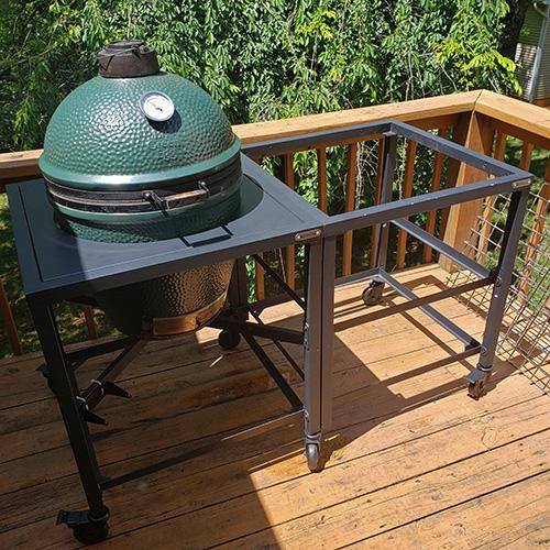 Preventative maintenance on a Big Green Egg Modular Table