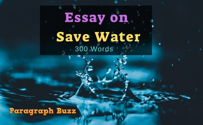 essay on save water in english for students
