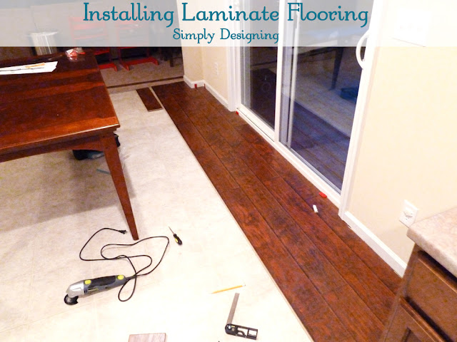 Installing Laminate Flooring | #diy #flooring #homeimprovement | at Simply Designing