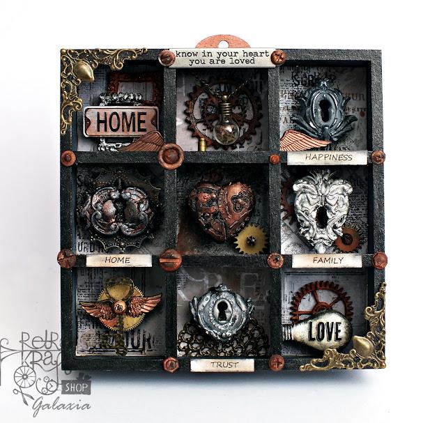 """Shadow box """"Miłość jest kluczem"""""""