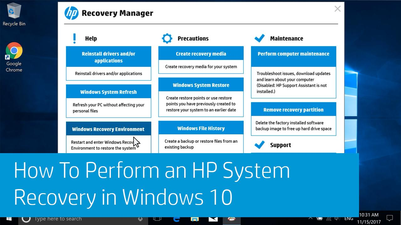 windows 10 update create recovery media