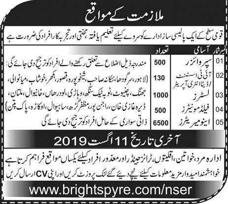 www.brightspyre.com 6500 Enumerators Jobs