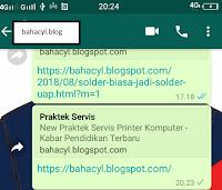 Kenapa Share Postingan Blog Pada WhatsApp Tidak Gambarnya