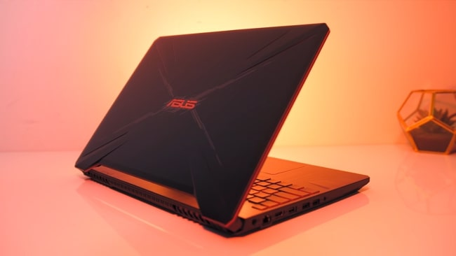 Asus TUF FX505. It is the fair performance gaming laptop which has two quite loud fans than an average laptops. It has Ryzen 5 CPU with NVIDIA's GeForce GTX 1650 4GB GDDR5 GPU and 8GB of DDR4 RAM.