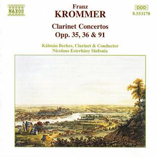 Kalman Berkes – Krommer: Clarinet Concertos Opp. 35, 36 And 91