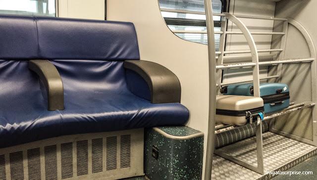 Roma - Itália - Expresso Leonardo da Vinci, trem do aeroporto para o Centro