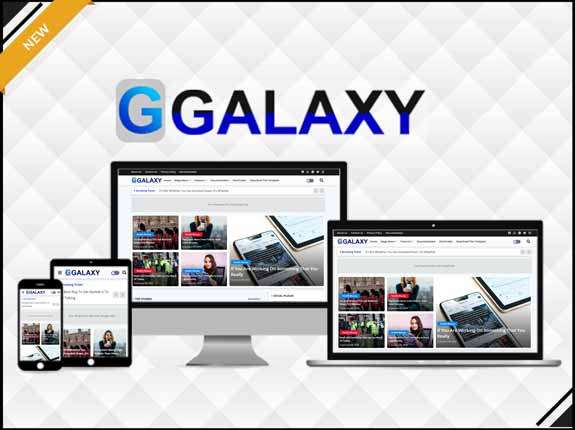 Galaxy - Magazine & Responsive Blogger Template - Responsive Blogger Template
