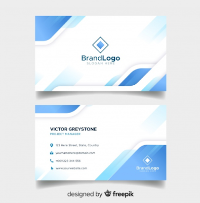 Template Kartu Nama - Elegant Business Card Template With Geometric Design