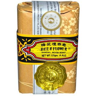 صابونة الصندل من اي هيرب Bee & Flower, Sandalwood Soap, 4.4 oz (125 g)