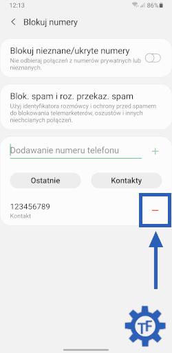Jak odblokować numer w telefonie Samsung?