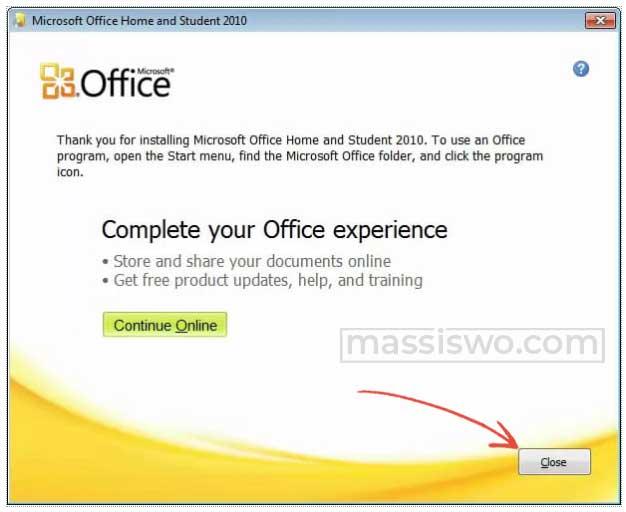 instal microsoft office 2010