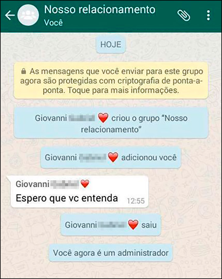 Como terminar o relacionamento pelo WhatsApp