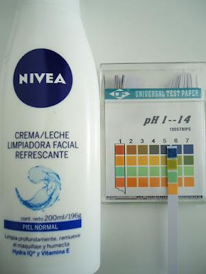 pH de Leche limpiadora refrescante de Nivea