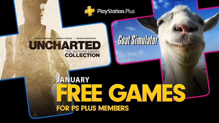 uncharted nathan drake collection goat simulator game ps4 plus sony interactive entertainment naughty dog sony computer entertainment coffee stain studios