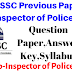 HPSSC SI Previous Years Question Paper,Answer Key 2006 ! HP Sub Inspector OF Police Question paper 2006