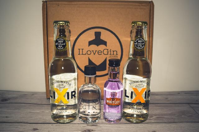 I Love Gin November box contents lined up