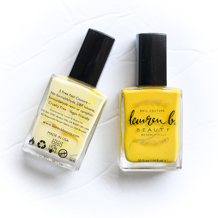 Lauren B Beauty Nail Couture Polish - Coachella Valley Sun -  Zuma Beach Bum - 5 Free Cruelty Free Vegan Friendly