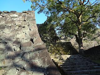 熊本地震前の熊本城(階段)