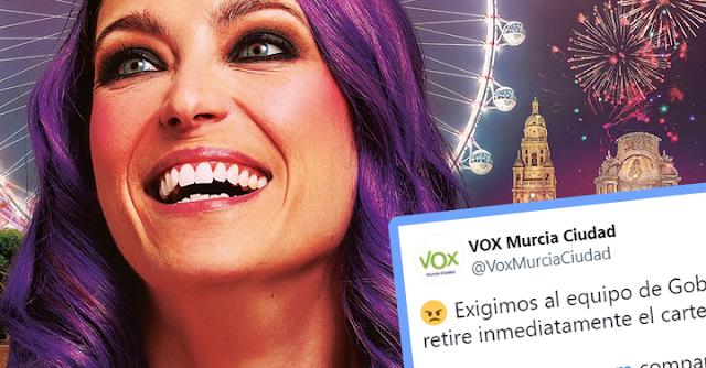 Vox exige retirada del cartel de Raquel Sastre