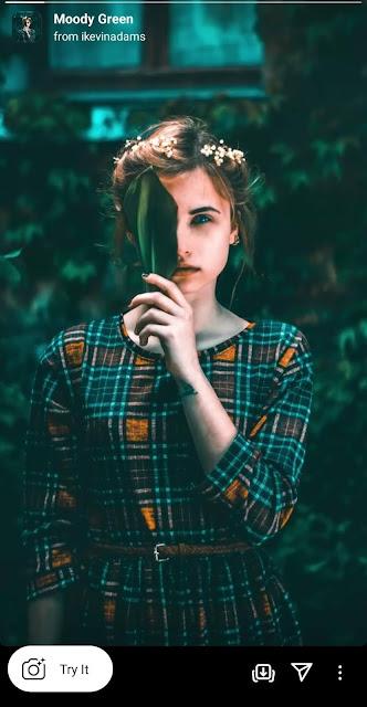 Moddy green Instagram filter