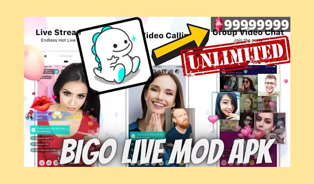 Download Bigo Live MOD Apk Unlimited Diamonds + Bean