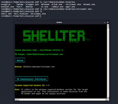Shellter - Seleccionar binario vncviewer.exe