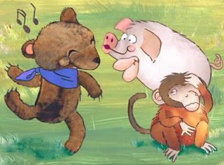el oso la mona y el cerdo fabula samaniego