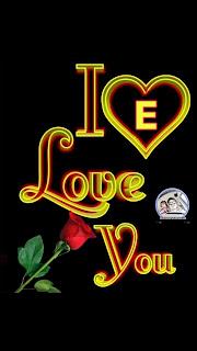 i love you e nameart