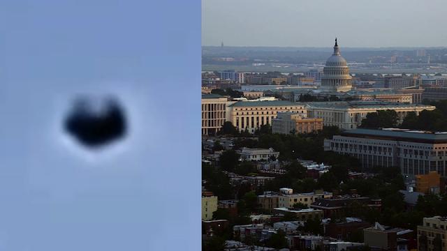 Dos ovnis negros sobre Washington DC el 11 de diciembre de 2020